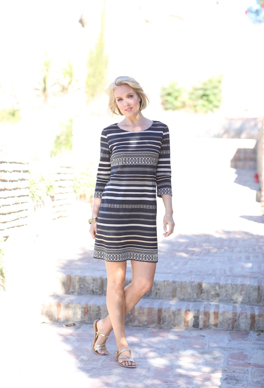 11800 Aztek Stripe Dress