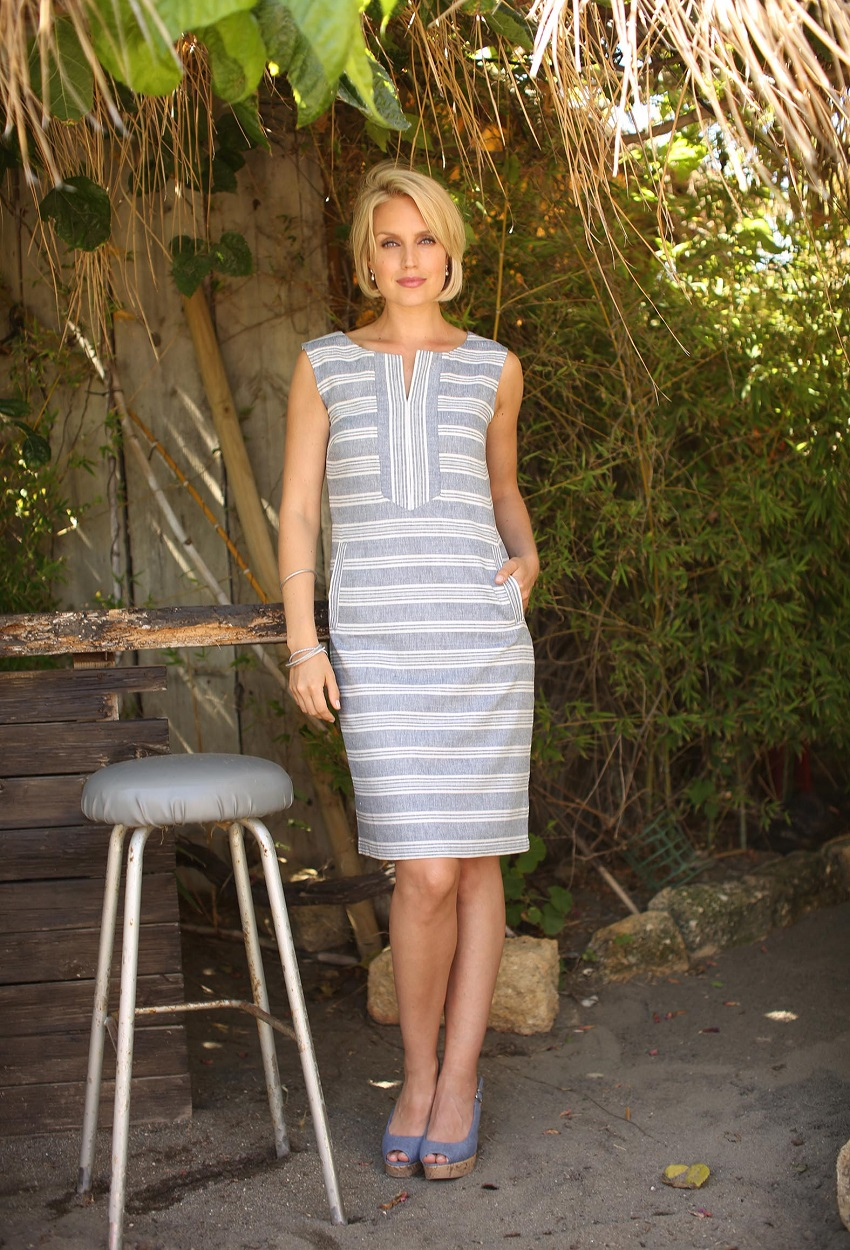 81802 Indigo Stripe Dress
