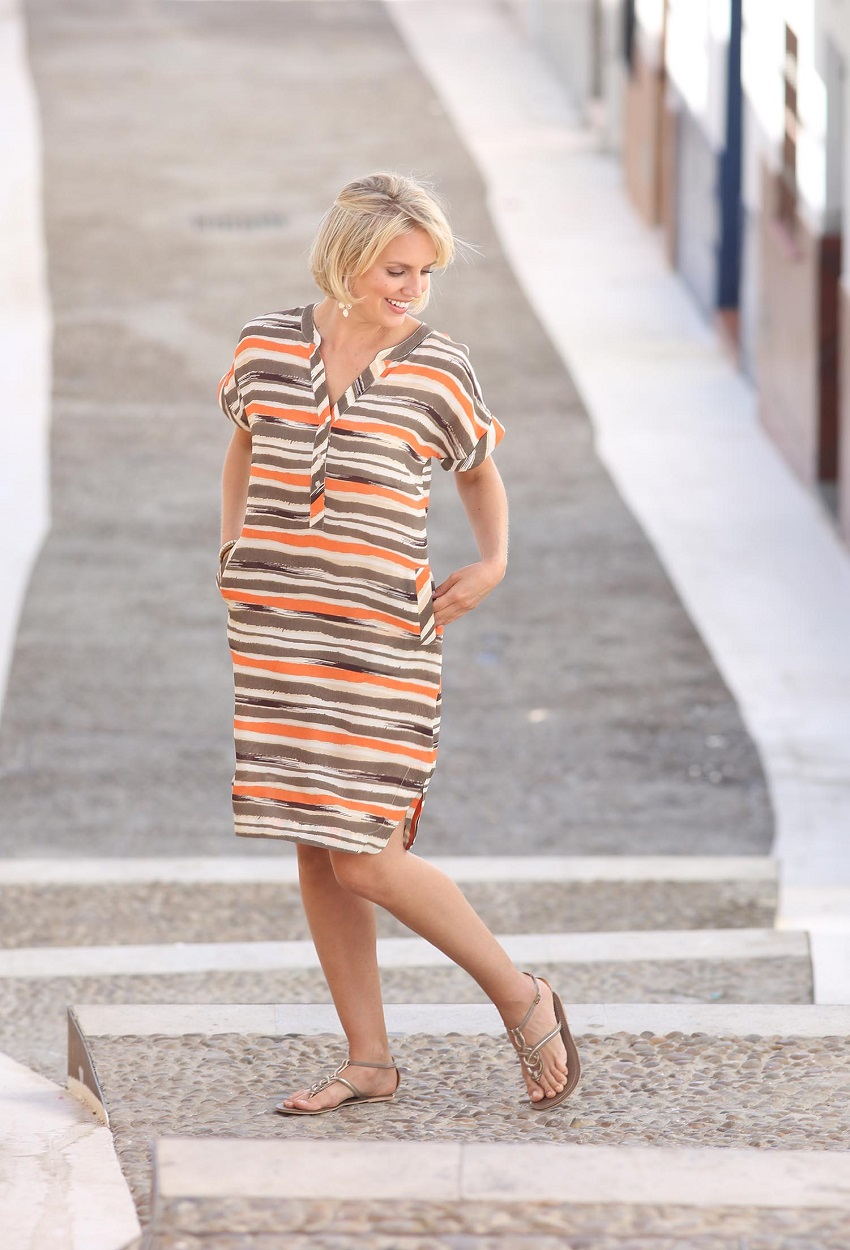 81809 Painted Stripe Dress