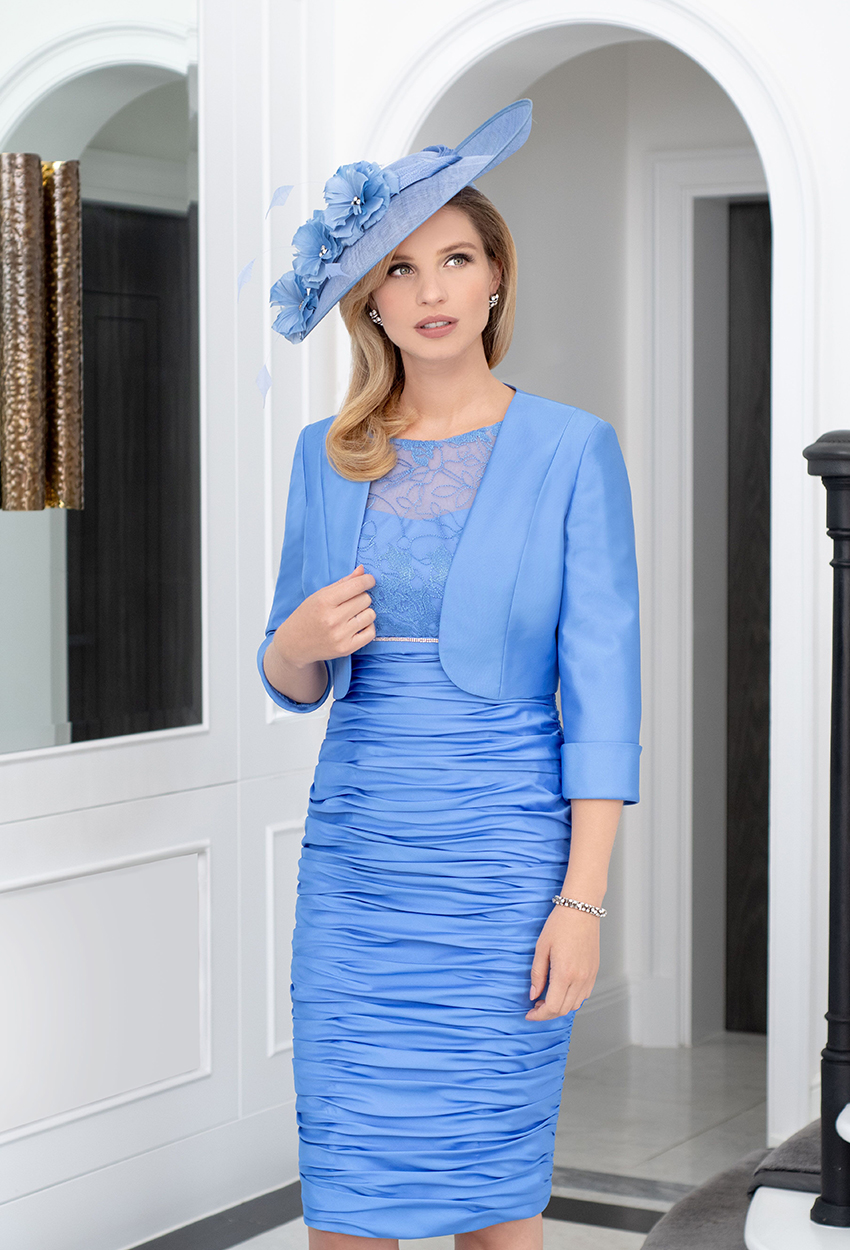 ISE956 Antibes Blue - Ispirato Dress and Jacket