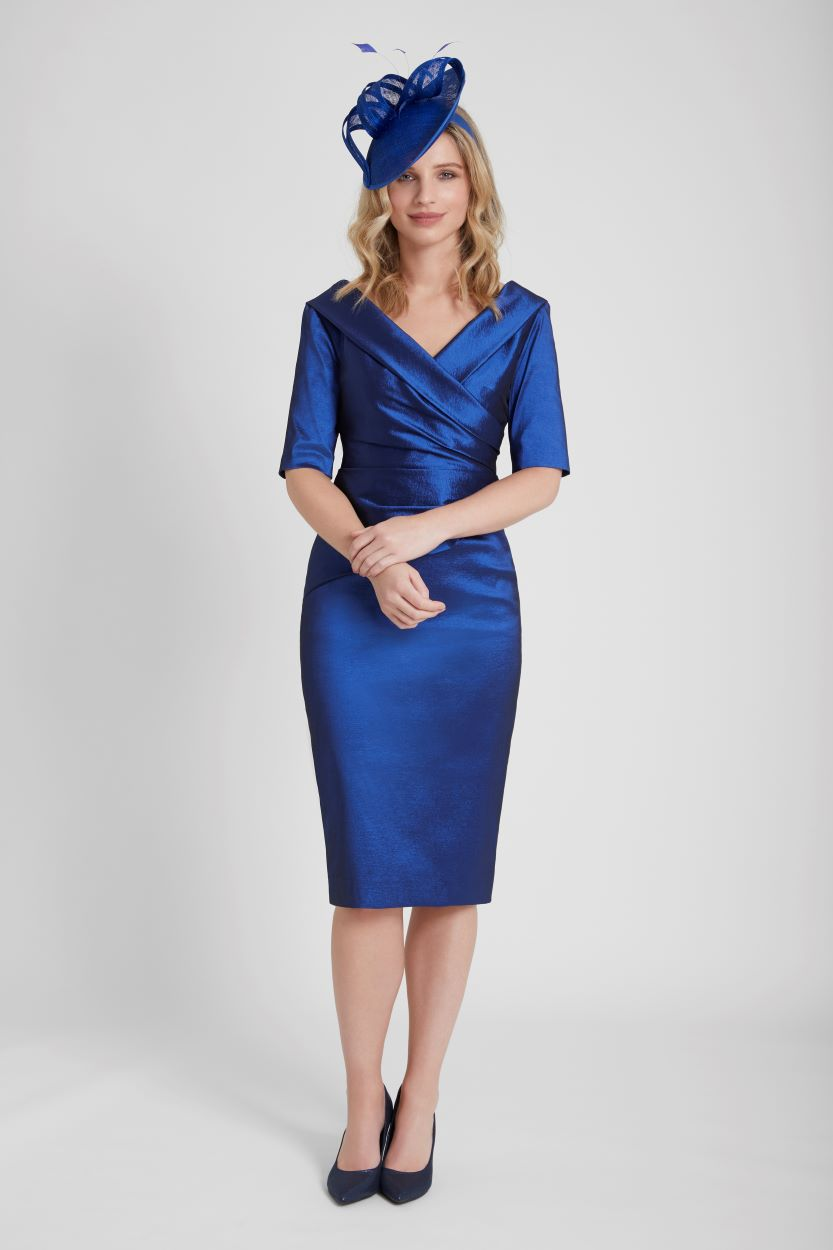 ISE950 Navy/Shortbread Spot- Ispirato Dress and Jacket